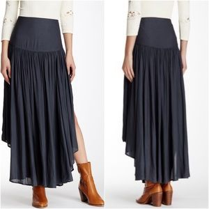 Free People A Day in the Life Midi Skirt Charcoal